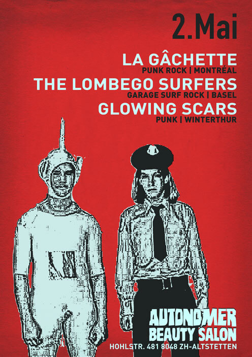 Autonomer Beauty Salon - La Gâchette, The Lombego Surfers, Glowing Scars - 2 May 2013