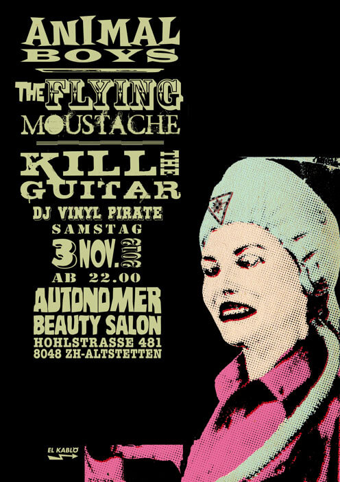 Autonomer Beauty Salon - Animal Boys, The Flying Moustache, Kill The Guitar - 3 Nov. 2012