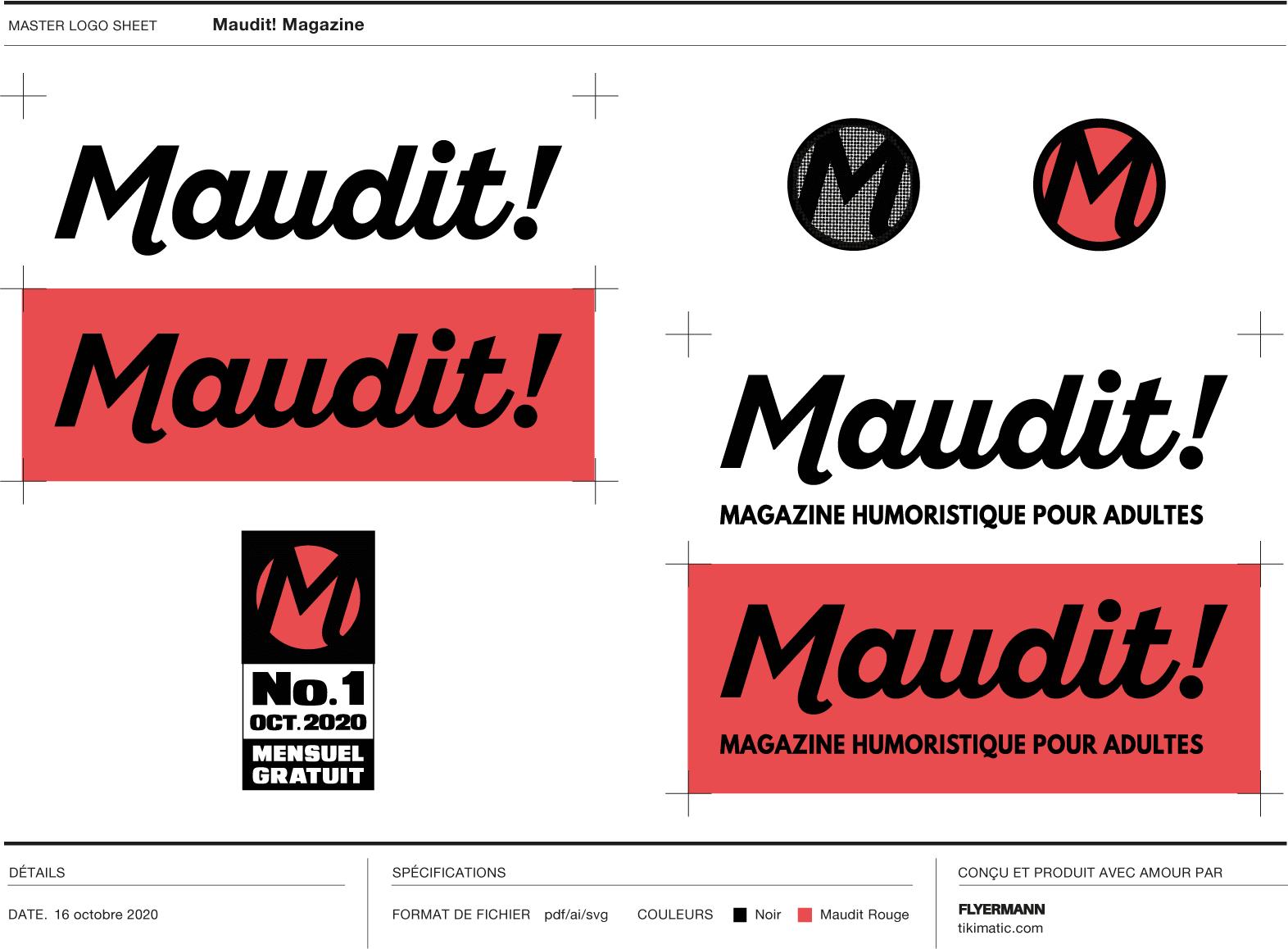 Maudit! Magazine | Master Logo Sheet